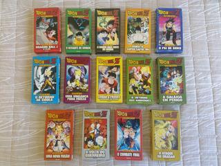 Coleção 14 Filmes Dragon Ball Z Vhs Heróis Da Tv