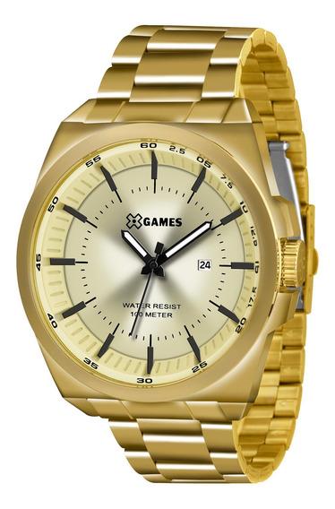 Relógio Xgames Xmgs1013 C1kx Masculino Aço Dourado- Refinado