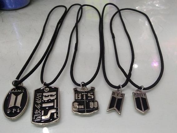 Conjunto Colares De Kpop Bts - 5 Unidades Distintas