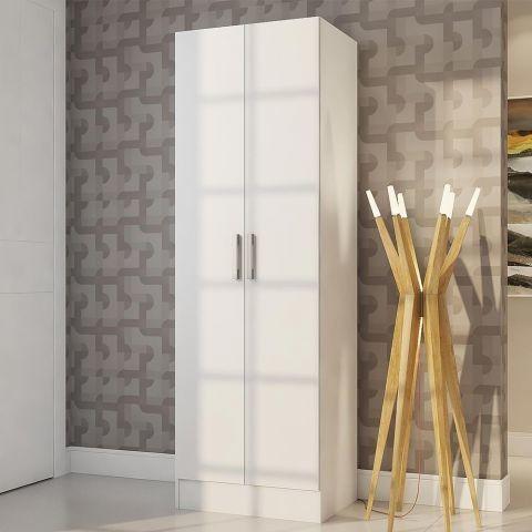 Armário Multiuso 2 Portas Amareto Branco - Viero Móveis