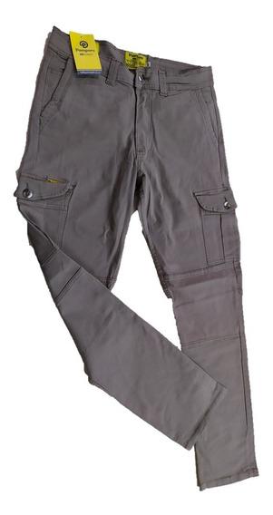 Pantalón Cargo Elastizado Pampero Beige/verde