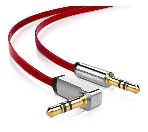 Imagen 1 de 8 de Cable Aux Ugreen 3.5mm Macho-macho 90°rojo