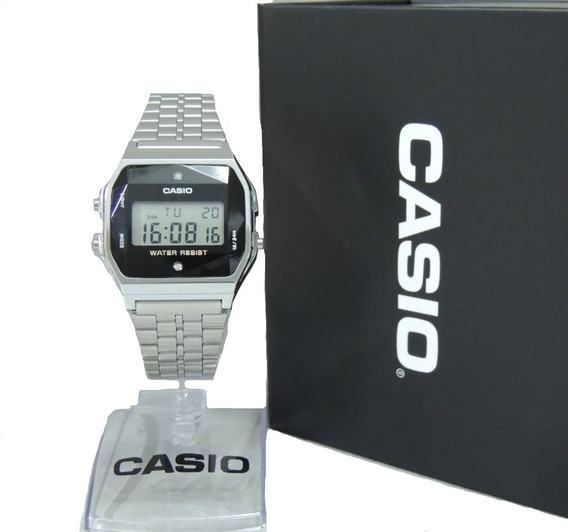 Relógio Casio Vintage Diamond A159wad-1df - Nfe E Garantia