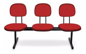 Cadeira Longarina - Igrejas, Auditório, Recepção - 3 Lugares
