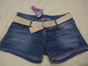 Short Jeans Com Elastano Tam 42 Vem Com Cinto