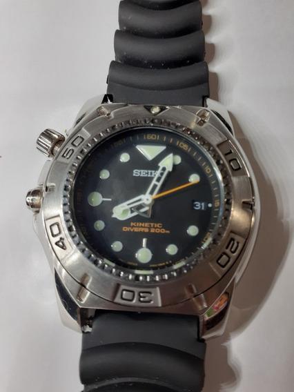 Relógio Seiko Kinetic Scuba Divers Ska293p2 Rarissimo