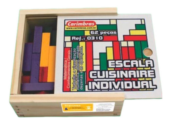 Brinquedo Educativo Jogo Pedagógico Escala Cuisínaire Indiv