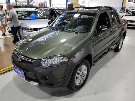 Fiat Strada Adventure 1.8 Cabine Dupla Verde 2013 (completa)