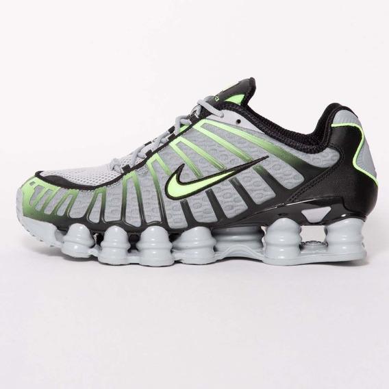 Tênis Nike Shox Tl 12 Molas - Cinza E Verde