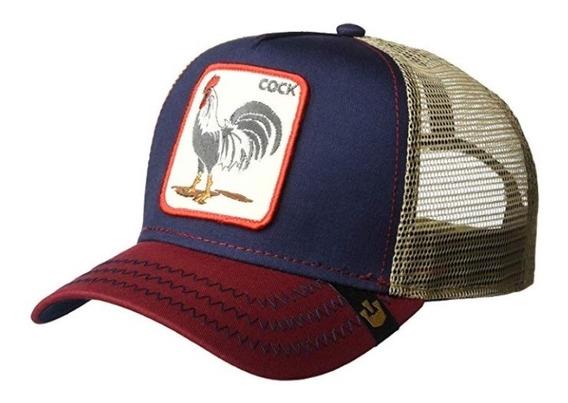 Gorra Goorin Bros Cook Gallo Azul/rojo Nueva Y Original