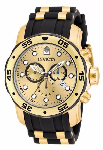 Invicta Pro Diver 17885 - Banhado A Ouro 18k