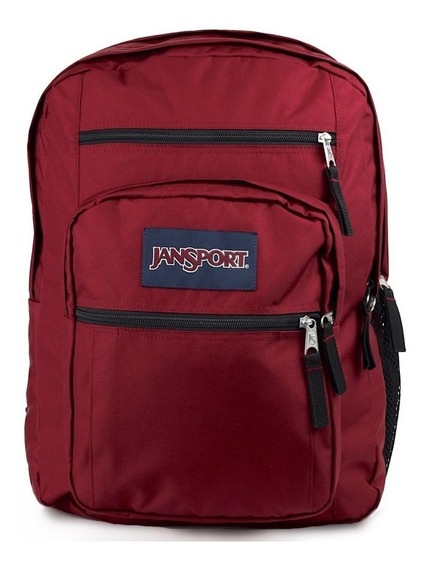Mochilas Jansport Big Student Viking Red Bordó Escolar