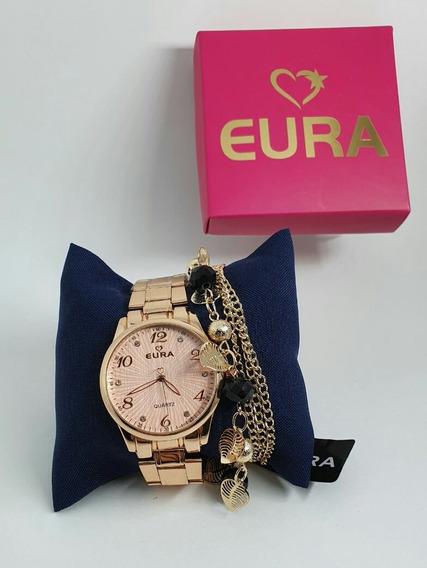 10 Relógios Femininos C/caixa E Pulseira Vários Modelos 10pç