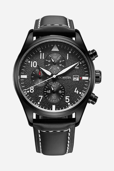 Relógio Ochstin Preto Todo Funcional De Luxo + Caixa