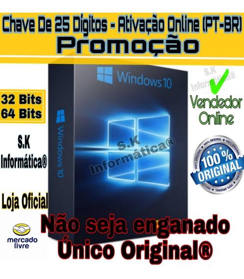 Win10 Pro Key Serial Chave Licença 100% Orignal Ativa Online