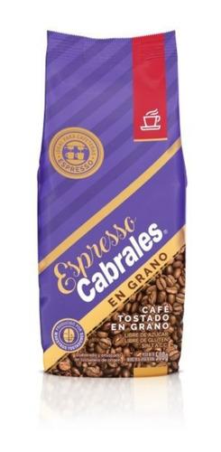 Imagen 1 de 5 de Cafe En Grano Tostado Espresso Super Cabrales X500g Sin Tacc