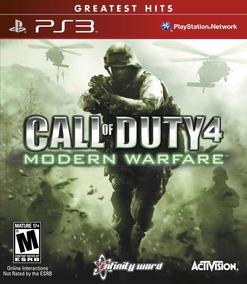 Jogo Call Of Duty 4 Modern Warfare Ps3 Mídia Física Nfe