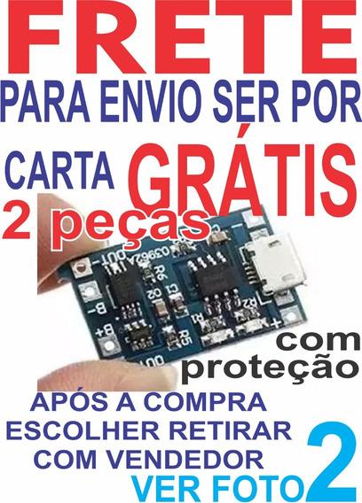 2 Pç Ler Frete Grátis Carta Carregador Usb Bateria Tp4056 Xc