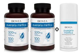 Oferta Pueraria Mirífica 500mg 200 Cáps + Creme Biovea