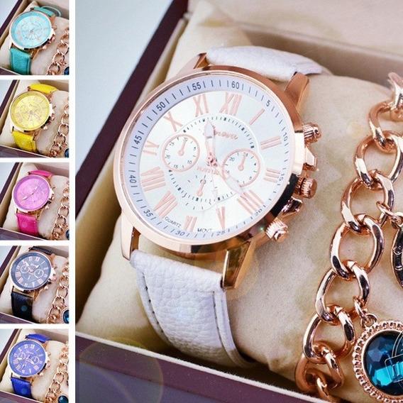 Relógio Feminino Geneva Platinum - Cores