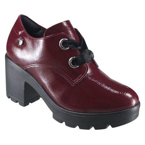 Sapato Feminino Quiz Verniz Oxford 69-69230 Out/inv 2018