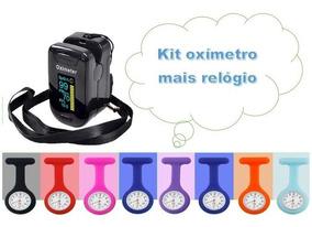 Kit Relógio De Bolso Lapela Enfermagem Mais 1 Aparelho