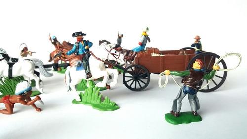 Cowboys Vs Indios 1 Soldaditos Pintados A Mano Premium