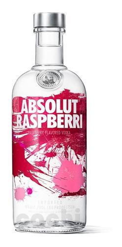 Imagen 1 de 3 de Vodka Absolut Raspberri 750ml