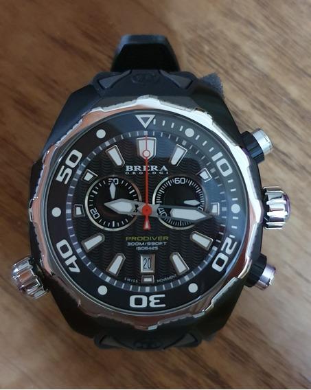 Reloj Brera Orologi Pro Diver Swiss Movement Cristal Zafiro