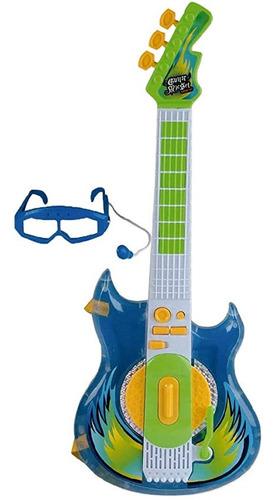 Imagem 1 de 4 de Guitarra Rock Star Azul