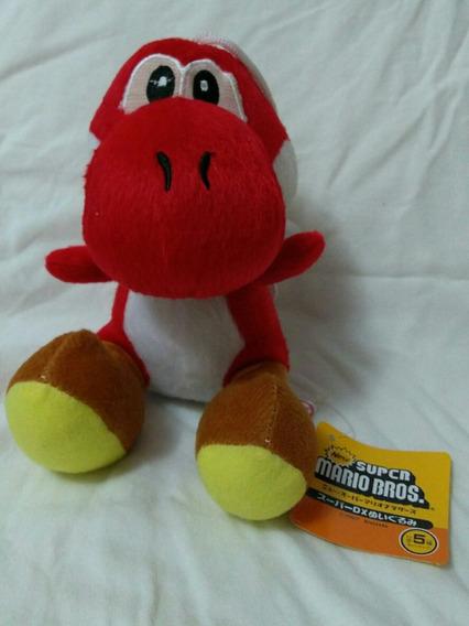 Boneco Pelucia Yoshi Vermelho Do Mario Bros Super Nintendo