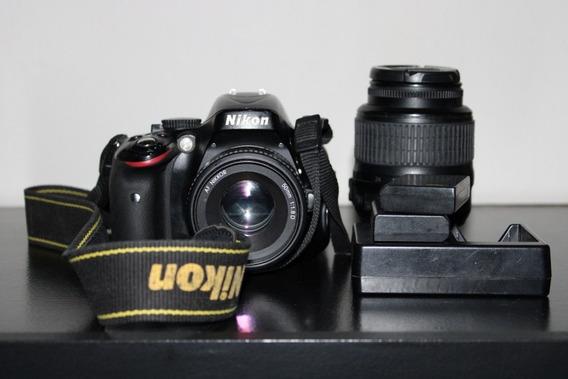 Câmera Nikon D5100 + Lente 18-55 + Lente 50mm+ 2 Baterias