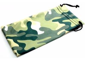 Funda De Tela Microfibra Color Camuflaje Para Lentes