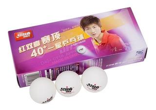 Pelotas Ping Pong Plástico Dhs 40+ 1 Estrella 10 Unidades - Estacion Deportes Olivos