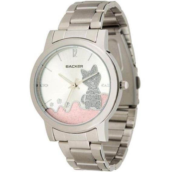 Relógio Backer Feminino Hannover Cat Prata 3324123f Cz