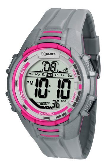 Relógio Digital Feminino X-games Xmppd380 Rosa E Cinza