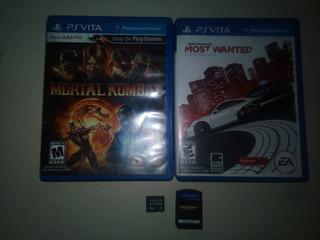3 Juegos Ps Vita Mortal Kombat,most Wanted,asphalt, Memoria