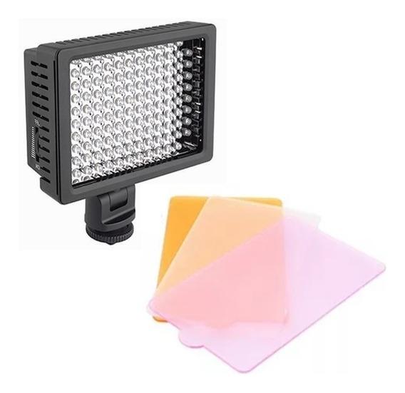 Iluminador Profissional Led Hd 160 Foto Video Filmagem