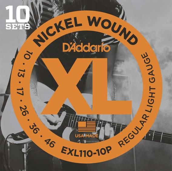 Pack Economico 10 Encordoamentos Daddario Guitarra 010