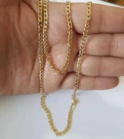 Corrente De Ouro 18 Cordão Groumet 60 Cm 3,2 Gramas Promoção