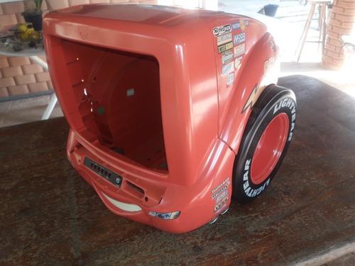 Tv Disney Vermelha Somente A Caixa E As Rodas Carros Cars