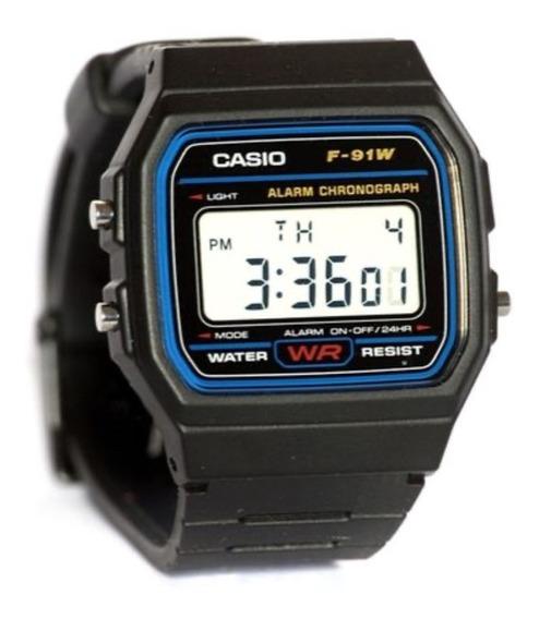Relógio Casio Digital Esportivo F-91w Original