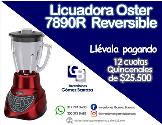 Licuadora Oster 7890r Reversible Roja 1.5 Ltrs