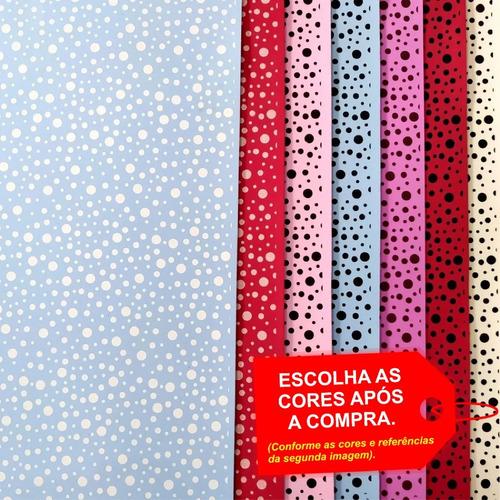 Folha De Eva Estampado Poá Mix 40x60cm - 5 Unidades