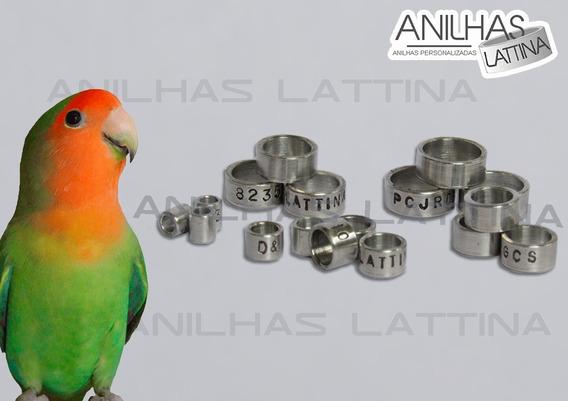 Anilhas Agapórnis 4.5 Mm Alumínio 10 Unid Personalizadas