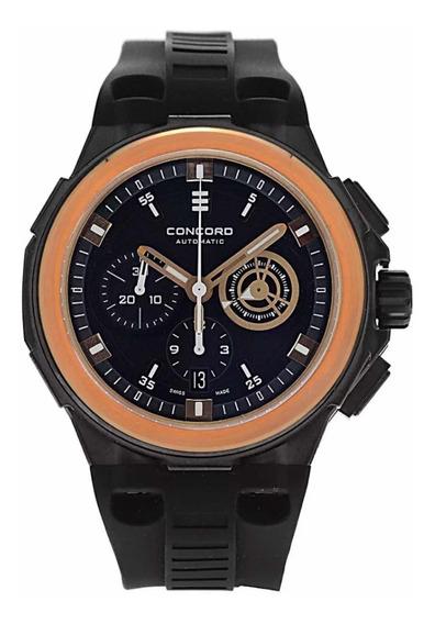 Relógio Concord Novo C2 Chronograph 18k Rose Gold & Steel