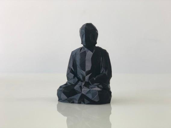 Buda Decoração Enfeite Estante 3d