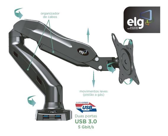 Suporte Articulado Com Pistão A Gás P/ Monitor F90usb ELG