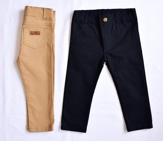 Pantalon Chupin Bebe Gabardina Elastizado..