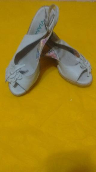 Zapatos De Mujer De Cuero Marca Viamo ,con Plataforma